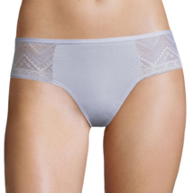 Flirtitude Women's Thong Panties Size X-Small Gray Cotton & Side Lace - $10.19
