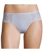 Flirtitude Women's Thong Panties Size X-Small Gray Cotton & Side Lace - $10.19