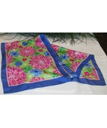 Lilly Pulitzer Ford Breast Cancer Awareness Collaboration Silk Scarf BCA... - $21.00