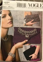 Vogue V9164 Kathryn Brenne Accessories 3 Different Clutch Bags One Size ... - $18.59