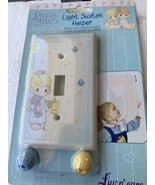 Precious Moments Light Switch Cover Plate Helper Little Girl with Bear V... - $12.32
