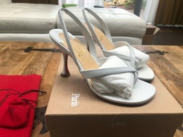 Christian Louboutin White 85MM Sandals New and Authentic - $829.00