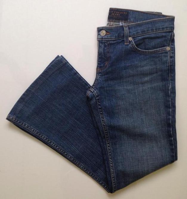 "JUICY COUTURE Ultra Low Rise JEANS Flare Leg Size 28 Inseam 28"" Premium Denim"