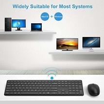 Wireless Keyboard and Mouse Combo, WisFox 2.4G Full-Size Slim Thin Wireless Keyb image 7