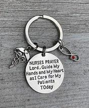 Personalized Nurse Keychain, Custom Nursing Serenity Prayer Charm Jewelr... - $12.99