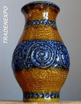 LARGE 11''Vintage 60-70s JASBA KERAMIK N 322 11 28 Vase West German Fat ... - $29.69