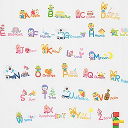 Pororo PORORO Point Wall Deco Sticker / English Alphabet Sticker / English Kids