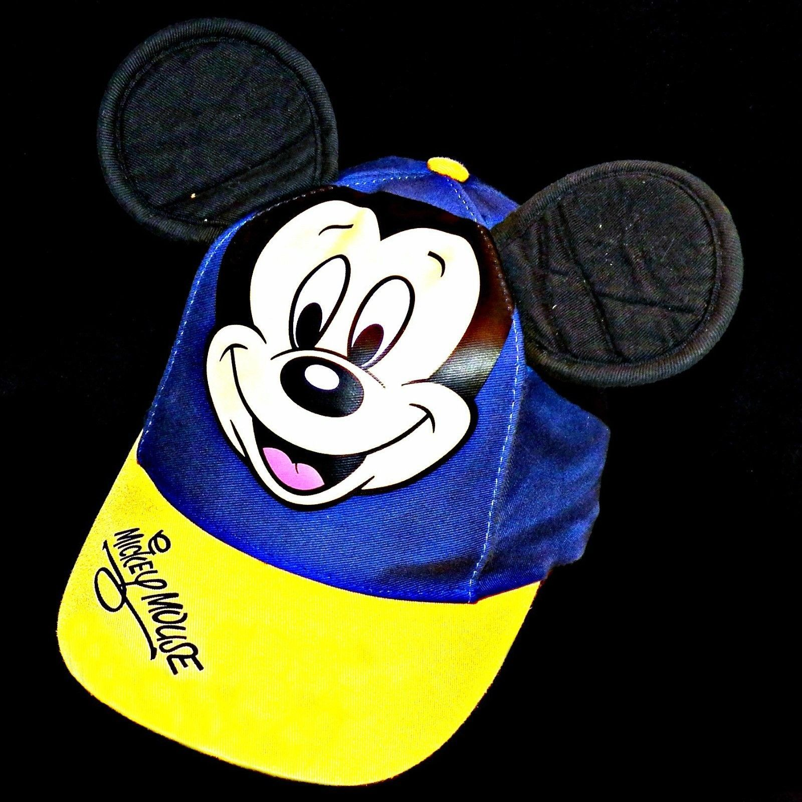 Disney Parks Disneyland Mickey Mouse Ears Baseball Hat Cap Ladies Youth S Size 7 - $24.99