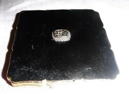 VINTAGE 30S STRATTON LOOSE POWDER COMPACT ART DECO BLACK ENAMEL MARCOSIT... - $18.07