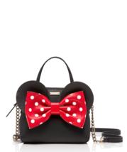 Kate Spade disney mouse minnie maise Bow Leather Crossbody Satchel Black - £213.33 GBP