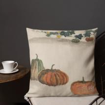 Shabby Chic Pumpkin Badge Garden Patio Decorative Pillow Cushion Farmhouse  - $23.99+