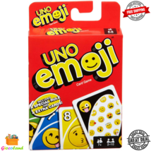 UNO Emojis Edition Card Game Fun Exciting Special Rule 2-10 Players Ages 7+ - $8.99