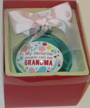 "My Favorite People Call Me Grandma Christmas Ornament Glass Ball 4"" New ... - $12.86"