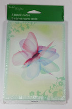 Tender Thoughts Butterfly Greeting Cards 8 Blank Notes New Sealed 5x4in - $4.99