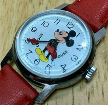 Vintage Disney Mickey Mouse By Bradley 29mm Hand-Winding Mechanical Watc... - $37.99