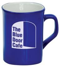 Personalized Engraved Blue Ceramic Laser Mug, Custom Coffee Mug, Logo Mug - $11.40