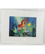 Walt Disney The Little Mermaid Print Ariel Listen to Me Sebastian Flound... - $10.99