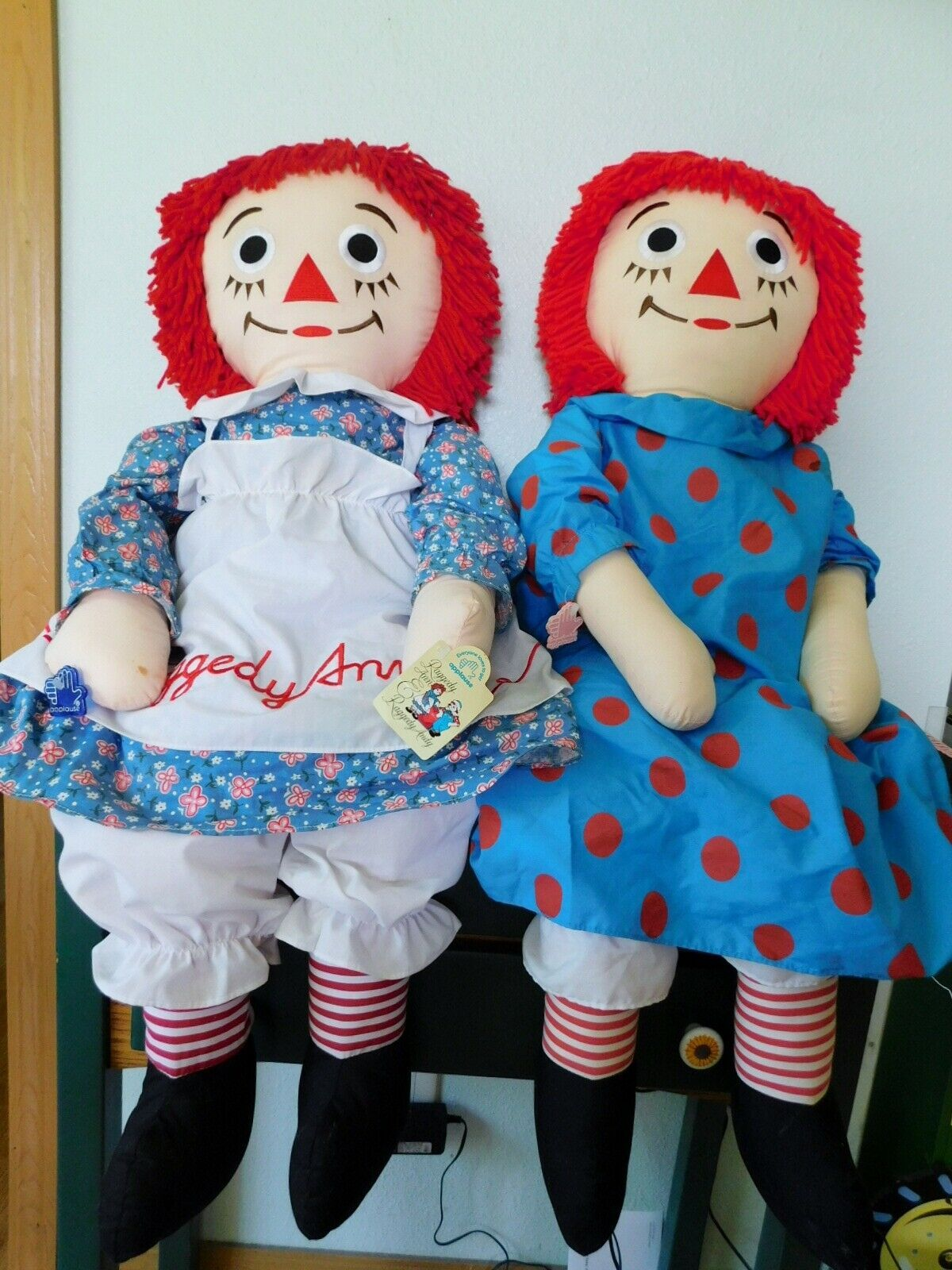 "(2) 36"" RAGGEDY ANN DOLLS with Hangtags Applause"