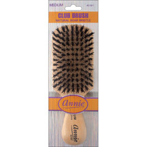 Annie Medium Wave Club Brush Light Brown 50% Nylon and 50% Black Bristle... - $4.60