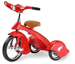 Kids Red Retro Tricycle with light & Adjustable Handle Bars by Morgan Cycle - $199.00
