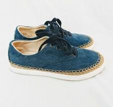Women's Ugg Australia Eyan Ii Blue Denim Espadrille Shoes Size 6 Mint Condition - $37.59