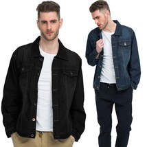 Spring Tide Retro Men Cowboy Jacket Black Youth Student Cowboy Jacket La... - $38.76