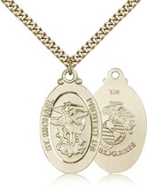 MARINES MEDAL - Gold Filled St. Michael Medal – 4145