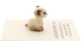 Hagen-Renaker Miniature Cat Figurine Tiny Siamese Kitten Sitting Chocolate Point image 2