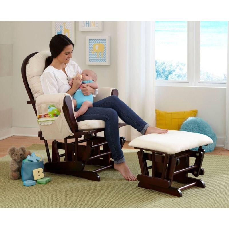 Glider Rocker Ottoman Chair Beige Cushion And 50 Similar Items 3