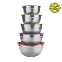 Sauran 5 Piece Mixing Bowls Large 5 Quart Capacity Stainless Steel Bowl ... - €31,06 EUR