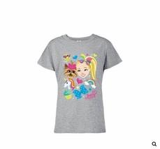 NWT Girls JoJo Siw Heather Gray Rainbow Tee Shirt Sizes 4 5 6 6X - $9.99