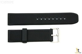 22mm Texture Italian Heavy Black Rubber Watch BAND Strap FIT LUMINOX S/S... - $22.50 CAD