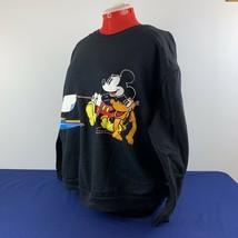 VTG 90s Mickey Co Tug of War Double Side Disney Cartoon Sweater Crewneck 2X - $109.98