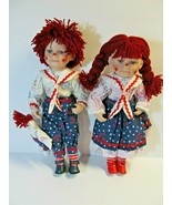 Raggedy Ann & Andy Porcelain Dolls Limited Edition Golden Keepsake with... - $74.25