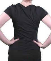 Bench UK Femmes Noir Nocturne Brille dans le Viennent Vivant À Nuit T-Shirt Nwt image 3