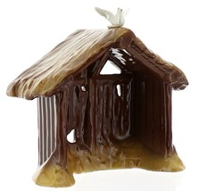 Hagen-Renaker Specialties Ceramic Nativity Figurine Manger with Dove image 2