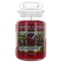 Yankee Candle Large Jar Candle, Red Raspberry 22 oz  NEW - £15.35 GBP