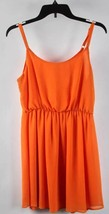 Lush Marmalade Orange Sleeveless Cinched Waist Dress M - $9.98