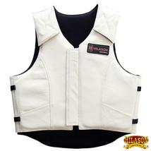 Hilason Bull Riding Pro Rodeo Leather Vest Gear Equipment White U-00ND - $148.95