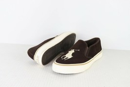 Polo Ralph Lauren Mens 10.5 D Suede Leather Big Pony Slip On Sneakers Shoes - $54.40