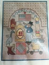 Bucilla Counted Cross Stitch Americana American Flag 10x13 - $17.99