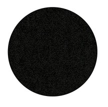 Bright House Solid Area Rug, Round, 4' L x 4' W, Black - $70.71