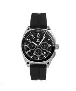 Shield Sonar Chronograph Strap Watch w/Date - Black/Silver - $425.00