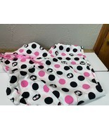 Sonoma Womens White  Black Pink Polka Dot OWL Pajamas pants Womens size XL - £10.32 GBP