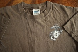 Usmc Us Marine Corps Bataan Barracks Medium Brown Athletic Pt S/S T-SHIRT Sz Sm - $16.82