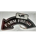 """Farm Fresh Metal Sign New in Plastic 8"""" x 20"""" - $18.80"""