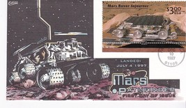 MARS ROVER SOJOURNER $3 US FIRST DAY OF ISSUE PASADENA CA DEC 10 1997 CO... - $16.81