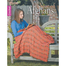 Leisure Arts-A Year Of Afghans Book 16 - $9.28