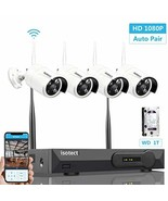 [2019 Newest] Wireless Security Camera System, Isotect Full HD 8CH 1080P... - $229.49