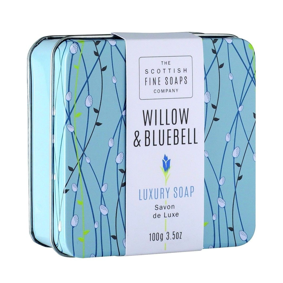 Scottish Fine Soaps Willow & Bluebell Soap in a Tin 100g 3.5oz
